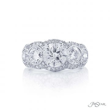 JB Star Round Diamond Engagement Ring