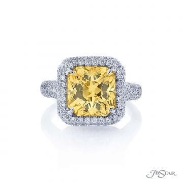 JB Star Natural Yellow Sapphire and Diamond Ring