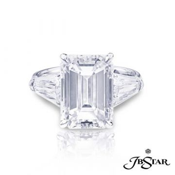 JB Star Platinum Diamond Engagement Ring - 1219-039