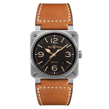 Bell and Ross BR03-92 Golden Heritage Black Stainless Steel Men's Watch