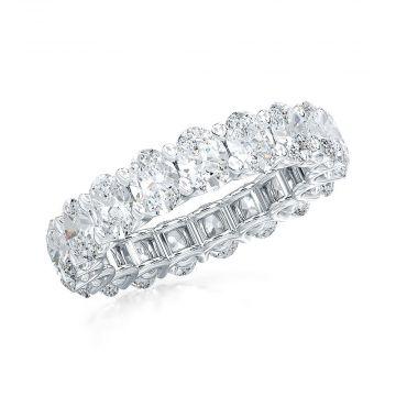Estenza Lab Created 14k White Gold  Diamond Eternity Wedding  Band