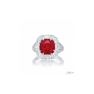 JB Star GIA Certified Ruby & Diamond Ring