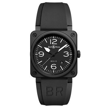Bell and Ross BR03-92 Black Matte Ceramic Black Stainless Steel Men's Watch