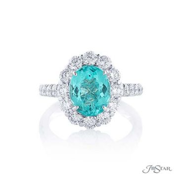 JB Star Platinum Paraiba and Diamond Engagement Ring - 2371-004