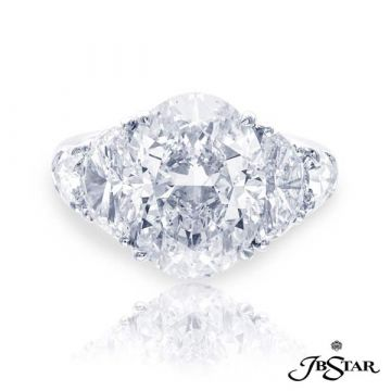 JB Star Platinum Diamond Engagement Ring - 4958-010