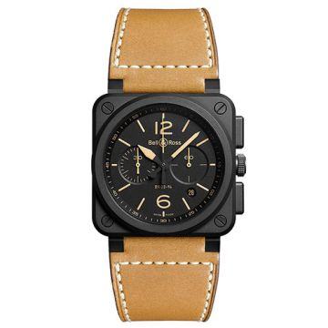 Bell and Ross Chronograph BR03-94 Heritage Ceramic Black Stainless Steel Men's Watch