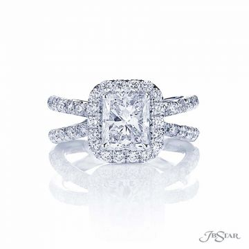 JB Star Platinum Diamond Engagement Ring