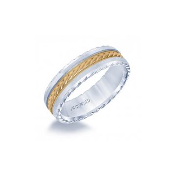 ArtCarved 14k Two-Tone Gold Wedding  Band