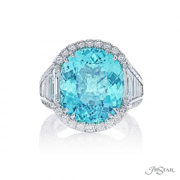 JB Star Natural Paraiba Tourmaline & Diamond Ring