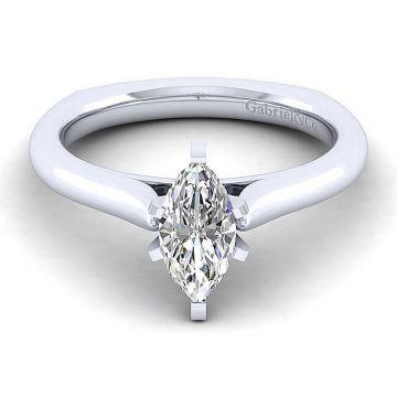 Gabriel & Co 14K White Gold Allie Solitaire Diamond Engagement Ring