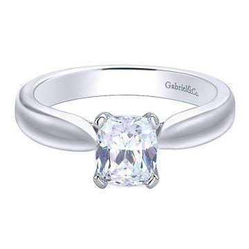 Gabriel & Co 14K White Gold Jamie Solitaire Diamond Engagement Ring
