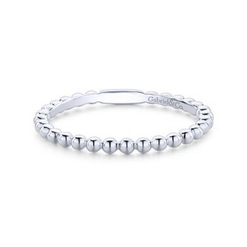 Gabriel & Co. 14k White Gold Stackable Ring