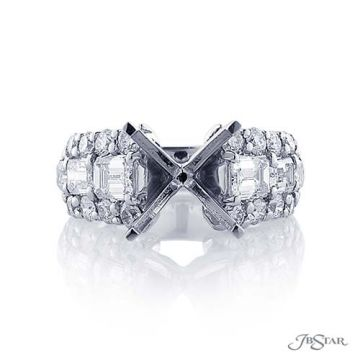 JB Star Platinum Diamond Semi-Mount Engagement Ring - 5249-001