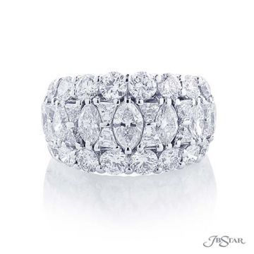 JB Star Platinum Diamond Wedding Band - 5288-001