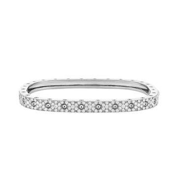 Roberto Coin 18k White Gold Diamond Bangle Bracelet