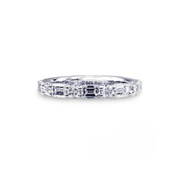 JB Star Platinum Diamond Wedding Band - WDS-7399/90120