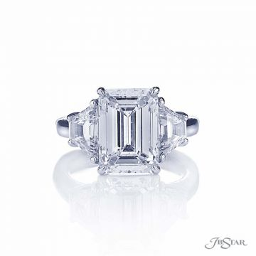 JB Star Platinum Sidestone Engagement Ring