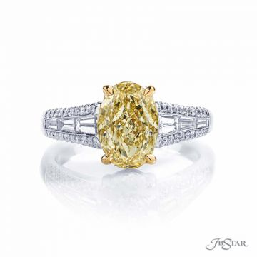 JB Star Fancy Yellow Oval Diamond Engagement Ring