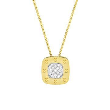 Roberto Coin 18k Two-tone Gold Diamond Pendant
