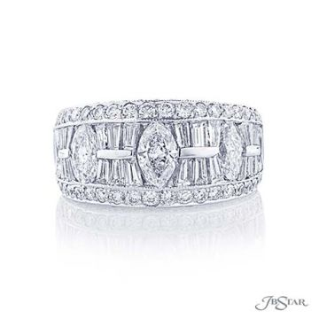 JB Star Plantinum Diamond Wedding Band - 1909-021