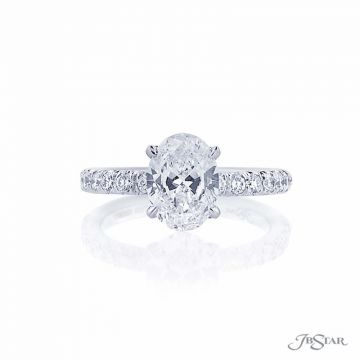 JB Star Oval Diamond Platinum Engagement Ring