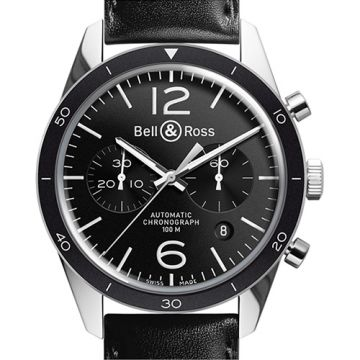 Bell and Ross Chronograph BR126 Sport White Stainless Steel Men's Watch