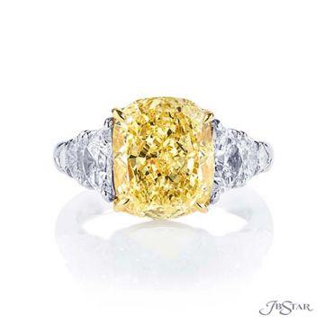 JB Star Platinum White and Yellow Diamond Engagement Ring - 7322-002