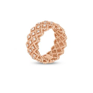 Roberto Coin 18k Rose Gold Diamond Ring