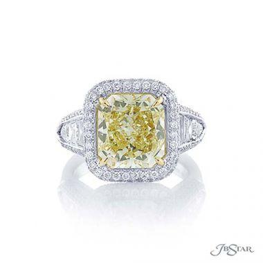 JB Star Platinum White and Yellow Diamond Engagement Ring - 7407-002