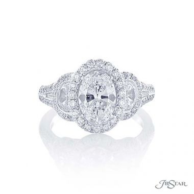 JB Star Plantinum Diamond Engagement Ring - 1366-039
