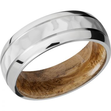 Lashbrook Cobalt Chrome Hardwood 8mm Men's Wedding Band