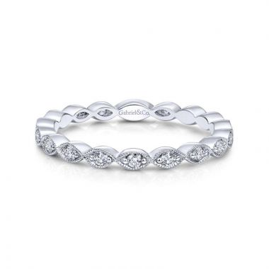 Gabriel & Co. 14k White Gold Stackable Diamond Ring