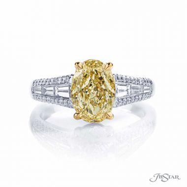 JB Star Fancy Yellow Oval Diamond Engagement Ring