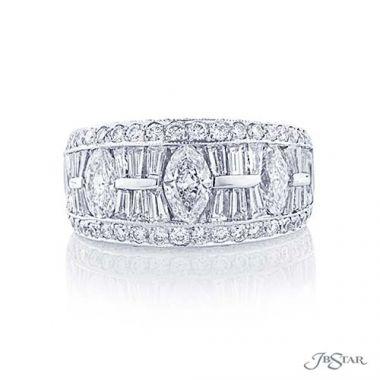 JB Star Plantinum Diamond Wedding Band - 1909-021